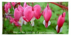 Psalms 27 14 Bleeding Hearts Beach Sheet