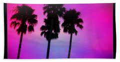 Psychedelic Palms Beach Towel