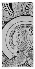 Zentangle Peacock Art Drawing Beach Sheet
