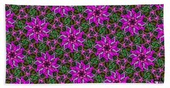 Beach Towel featuring the digital art Psychedelic Pink by Elizabeth McTaggart