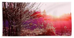 Beach Towel featuring the photograph Psychedelic Winter   by Martin Howard