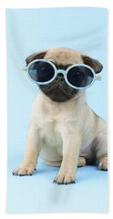 Pug Cool Beach Towel