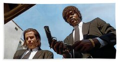 Pulp Fiction Artwork 1 Beach Towel by Sheraz A