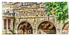 Pulteney Bridge Bath Beach Sheet