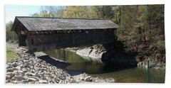 Pumping Station Covered Bridge Beach Towel by Catherine Gagne