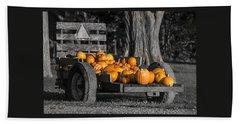 Pumpkin Cart Beach Sheet