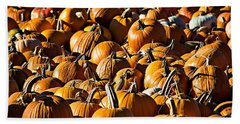 Beach Towel featuring the photograph Pumpkin Patch  by Aaron Berg