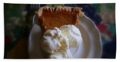 Pumpkin Pie A' La Mode Beach Sheet by Kay Novy