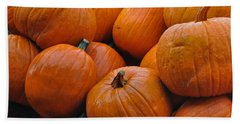 Beach Towel featuring the photograph Pumpkin Pile by Tikvah's Hope