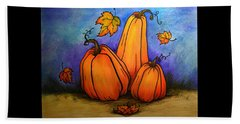 Pumpkin Trio Beach Towel