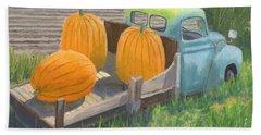 Pumpkin Truck Beach Towel