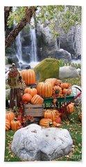 Pumpkin Waterfall Beach Towel