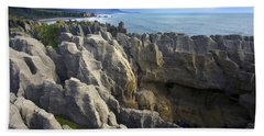 Punakaiki Pancake Rocks #2 Beach Towel by Stuart Litoff
