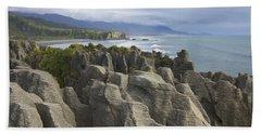 Punakaiki Pancake Rocks Beach Towel by Stuart Litoff