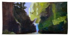 Punch Bowl Falls Beach Towel