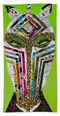 Beach Sheet featuring the tapestry - textile Punda Milia by Apanaki Temitayo M