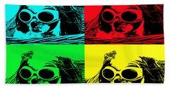 Puppy Mania Pop Art Beach Sheet