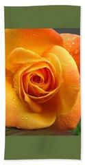 Beach Towel featuring the photograph Pure Gold - Roses From The Garden by Brooks Garten Hauschild