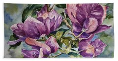 Purple Beauties - Bougainvillea Beach Sheet