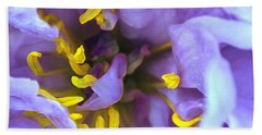 Purple Beauty Beach Towel by Tine Nordbred