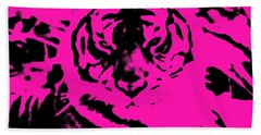 Beach Towel featuring the photograph Magical Purple Bengal Tiger by Belinda Lee