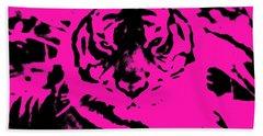 Magical Purple Bengal Tiger Beach Sheet by Belinda Lee