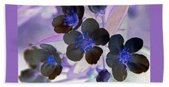 Beach Towel featuring the photograph Purple Blue And Gray by Chris Anderson