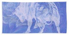 Purple Bull Negative Beach Towel