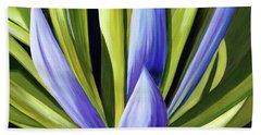 Purple Cactus Beach Towel