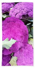 Purple Cauliflower Beach Sheet