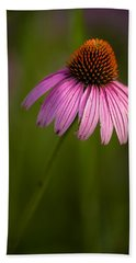 Purple Cone Flower Portrait Beach Sheet
