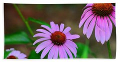 Purple Coneflower - Echinacea Beach Sheet by Kathy Eickenberg