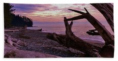 Beach Sheet featuring the photograph Purple Dreams In Bc by Barbara St Jean