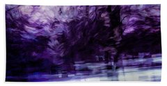 Purple Fire Beach Towel