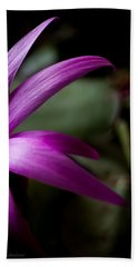Purple Flower Beach Towel by Steven Milner