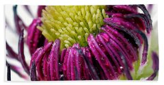 Purple Flower Beach Sheet