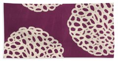 Purple Garden Bloom Beach Towel by Linda Woods