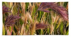 Purple Grasses Beach Towel by Meghan at FireBonnet Art