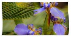Purple Iris No. 1 Beach Towel