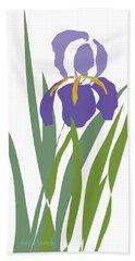 Purple Iris Stylized Beach Towel