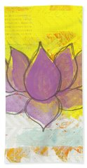 Purple Lotus Beach Towel