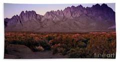 Purple Mountain Majesty Beach Towel by Barbara Chichester