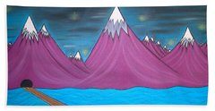 Purple Mountains Beach Towel by Robert Nickologianis