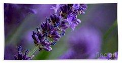 Purple Nature - Lavender Lavandula Beach Towel