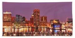 Purple Night In Baltimore Beach Sheet