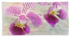 Purple Orchid 2 Beach Sheet