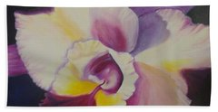 Purple Orchid Beach Towel