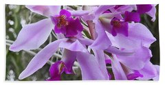 Purple Orchid Personality Beach Sheet