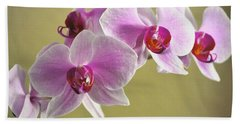 Purple Orchids Beach Towel
