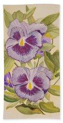 Purple Pansies II Beach Towel